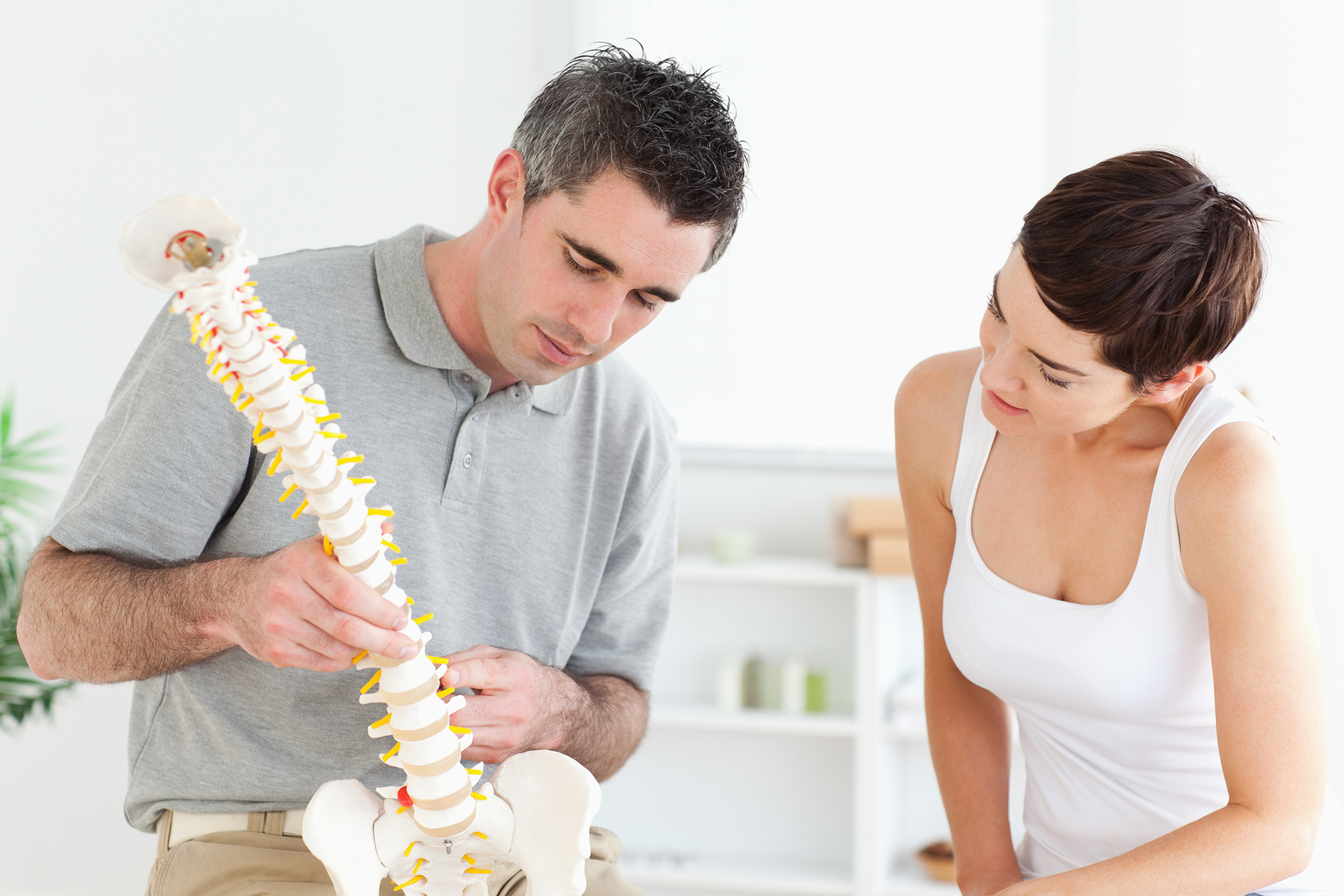 Everett chiropractor with patient